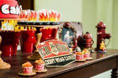 fire house party for boys | Firefighter Party with Lots of REALLY CUTE IDEAS via Kara's Party ...