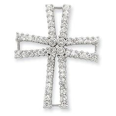 Sterling Silver Cz Cross Pendant Shop4Silver. $17.06. Approximate Width: 26 MM (1.01 INCHES). Approximate Length: 33 MM (1.29 INCHES). Save 72%!