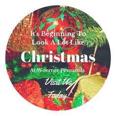 We have an incredible selection of #ornaments, #wreaths, Christmas collectables, nativity scenes, life-size decorations, lights, ribbon, garland and more! #Woerner #Pensacola