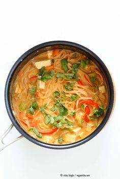 One pot weeknight peanut noodles by Vegan Richa