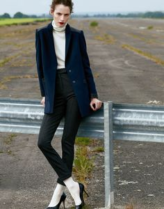 Reasonable argument for high-waisted trousers and turtlenecks...