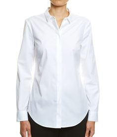 Lana Skinny Fit Shirt, WHITE