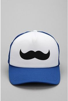 I don't get why there has to be a hat with a mustache on it because mustaches are on faces not on a hat. I still like it though. (]: