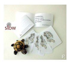 AKR.ZeitRaub SET: Schildkröte / 5 KlappKärtchen von paulARTisan auf DaWanda.com