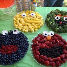 seasame street food - cute idea for kids