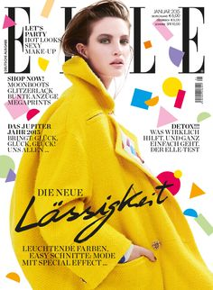 ELLE Cover Januar 2015 – Erin Shea