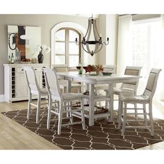 Progressive Furniture Willow Rectangular Counter Height Dining Interesting Willow Dining Room Decorating Inspiration