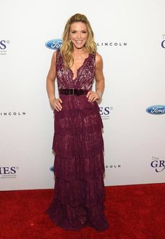 3dfff2f7d74 Emmy nominated TV Host Debbie Matenopoulos wore Mac Duggal 50423D while  presenting on stage at the