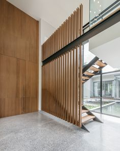 Image 3 of 27 from gallery of Ratchada 18 Residence / AOMO. Photograph by Chaovarith Poonphol Layouts Casa, House Layouts, Commercial Stairs, Commercial Design, Interior Stairs, Home Interior Design, Architecture Details, Interior Architecture, Stair Ladder