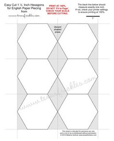 1000 images about hexagon obsession on pinterest for 1 5 inch hexagon template