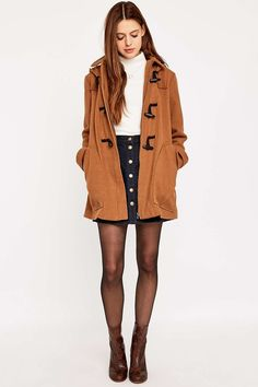 Urban Outfitters Duffle Camel Coat