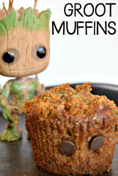 How To Make Guardians of The Galaxy GROOT Muffins - Hallecake