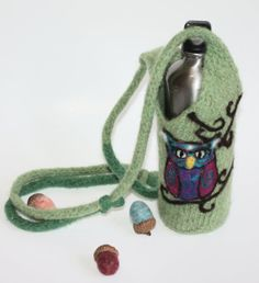 Hey, I found this really awesome Etsy listing at https://www.etsy.com/listing/168403178/whimsical-owl-water-bottle-wine-bottle