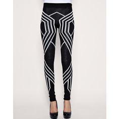 #leggings #black&white  geometric leggins, YES ROCK