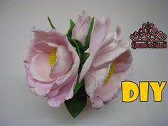 Цветы шиповника из фоамирана .DIY