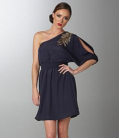 Sugar Lips Embellished One Shoulder Dress | Dillards.com