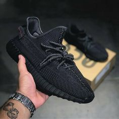 """The yeezy boost 350 """"black"""" dropped today ! Adidas Yeezy Boost V2, Yeezy Boost 350 Black, Yeezy 350 V2 Black, Yeezy Sneakers, Yeezy Shoes, Sneakers Adidas, Shoes Sneakers, Yeezy Fashion, Sneakers Fashion"""