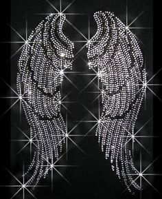 Rhinestone Transfer Angel Wings with Clear and by RegalRhinestones, $10.95
