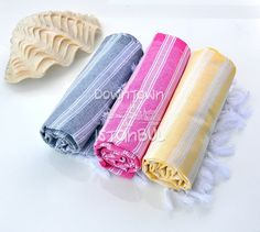 Guest Bath Towel Set of 3 Turkish Bath Towel - Beach Shawl Scarf Swimsuit Cover Up Linen Beach Towels Womens Clothing Baby Wearing Wash
