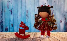 Lovely by OwlsUa La Petite Collection, Handmade Dolls, Handmade Gifts, Minnie Mouse, Textiles, Christmas Ornaments, Holiday Decor, Disney Characters, Unique Jewelry