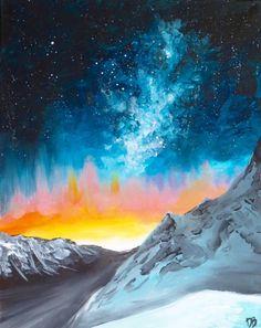 Mountain Galaxy Sky