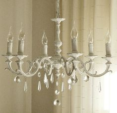 Diy chandelier makeover very clever thanks nancy diy new old chandelier in my kitchen before paint is a wonderful thing isn it aloadofball Choice Image