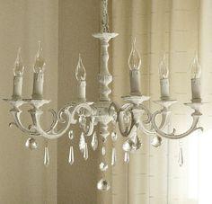 Diy chandelier makeover araa de luces add your best pinterest white shabby chic kitchen pinterest shabby chic aloadofball Gallery