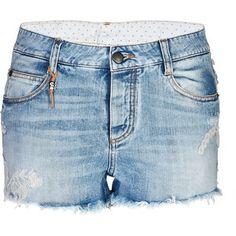 ERMANNO SCERVINO Embroidered Cutoff Jean Shorts