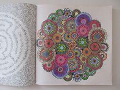 Malbuch für Erwachsene Secret Garden ausgemalt mit Buntstiften drawing Blumen flowers DIY Muster pattern