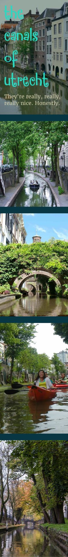 The canals of Utrecht. Honestly very nice indeed.