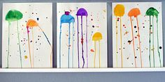 Watercolor jellyfish art project for kids