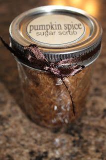 The Purposeful Mom: Homemade Christmas Gift: Pumpkin Pie Spice Sugar Scrub