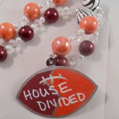Zebra House Divided Necklace by ScarletRoot on Etsy, $40.00