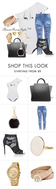 """""""Untitled #246"""" by qcollinsford ❤ liked on Polyvore featuring Lisa Marie Fernandez, ZAC Zac Posen, Furla, Valentino, GUESS and Marc Jacobs"""