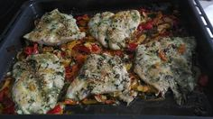 Filetes de pescado con su colchón de verduras