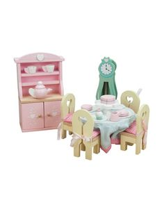 """""""Daisylane""""+Dining+Room+Dollhouse+Furniture+by+Le+Toy+Van+at+Bergdorf+Goodman."""