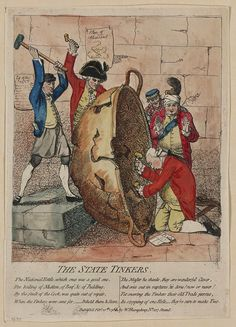 Canvas Print-The state tinkers, Gillray, James, engraver, Published Feb& inch Box Canvas Print made in the UK Fine Art Prints, Framed Prints, Canvas Prints, History Of England, Seven Years' War, Fine Art Paper, Poster Size Prints, Photo Greeting Cards, Large Bowl