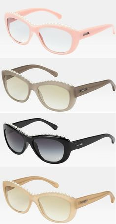994475f5f88 Chanel cat`s eyeshade. Chanel SunglassesEye ShapesCultured PearlsTemplesCat  ...