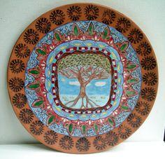 Majolica pottery plate