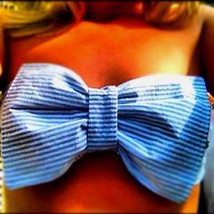 Seersucker bow bathing suit!!