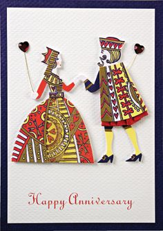 King and Queen of Hearts Anniversary Card by Meri Meri