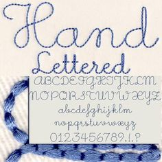 231 Hand Lettered Floss Stitch