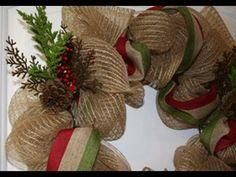 Holiday Decor Mesh Wreath - YouTube