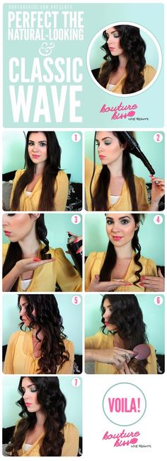 Wavy hair tutorial. Easier than you thought! try it this weekend and team with one our LBD's for classic elegant style. #chiarafashion