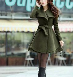 Women's Amy Green Color Princess style cape dress by colorfulday01, $69.99