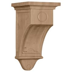 "Arts and Crafts 9""H x 5""W x 5""D Corbel in Rubberwood"