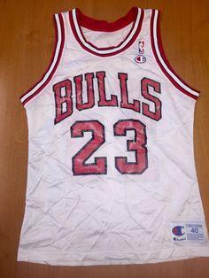 c17f3a36d Vintage 1992 - 1993 Michael Jordan Chicago Bulls Champion Jersey Size 40  gold nba finals hat shirt scottie pippen authentic air jumpman 45