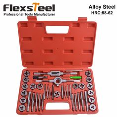 Flexsteel Top Quality Alloy Steel Tap and Die Set Metric Tap Die Set For Professional Use Hardness for Taps and Dies:58-62HRC - ICON2 Luxury Designer Fixures  Flexsteel #Top #Quality #Alloy #Steel #Tap #and #Die #Set #Metric #Tap #Die #Set #For #Professional #Use #Hardness #for #Taps #and #Dies:58-62HRC