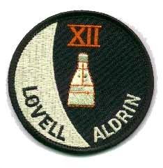 Geminis 12. Mission Patch. Gemini-XII flew with James A. Lovell Jr., Commander and Edwin E. Aldrin, Pilot. The primary object was rendezvous and docking and to evaluate EVA.