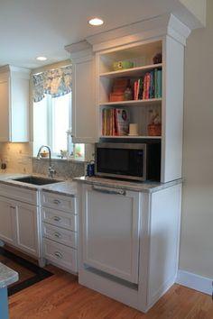 Nhbaskets Kitchen Reveal Traditional Kitchen   Raised Dishwasher